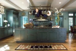 rustic-blue-kitchen