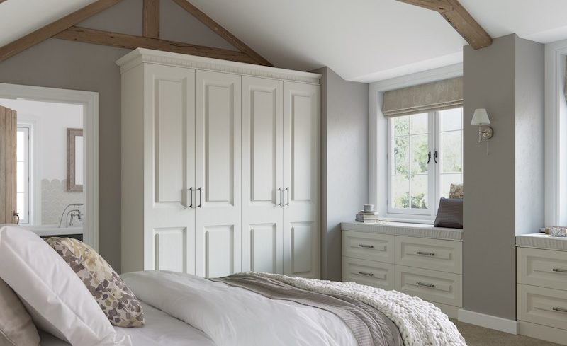 Traditional Fitted Bedroom in Cream