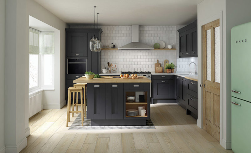 Traditional Kitchen in Charcoal Milbourne Design